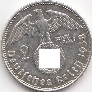 2 Reichsmark Drittes Reich 1936 1939 Coins Of Germany