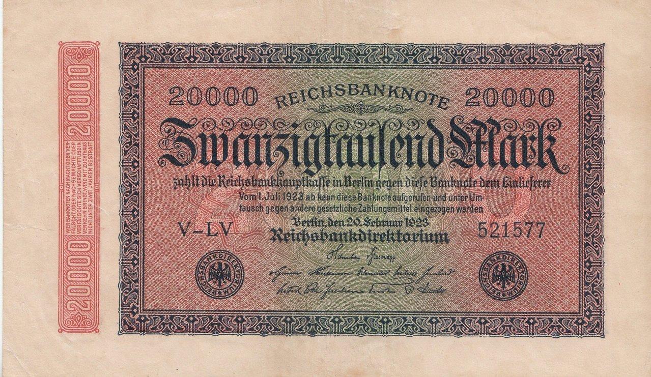 German Reich Weimar Republic Banknote 500 Mark