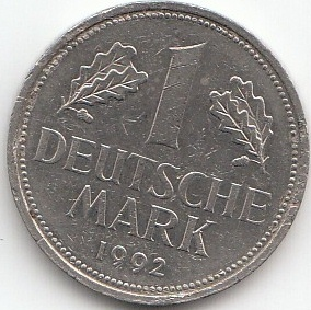 1 german mark 1950 2001 coins of germany. Black Bedroom Furniture Sets. Home Design Ideas