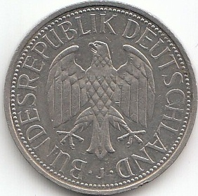 1 deutsche mark 1950 2001 coins of germany. Black Bedroom Furniture Sets. Home Design Ideas