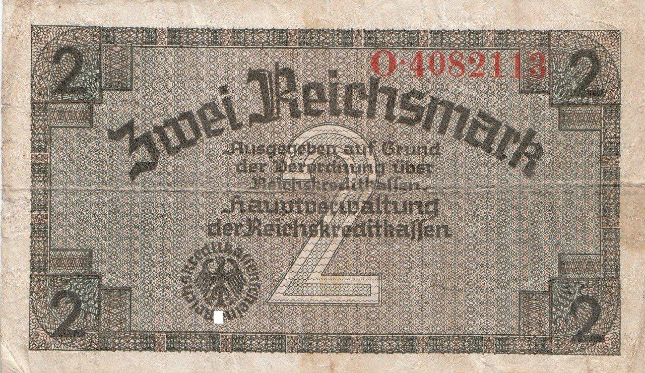 2 Reichsmark Deutsches Reich 1939 1944 552a Coins Of Germany