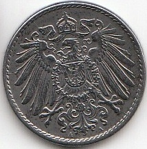 5 Pfennig Deutsches Reich 1915 1922 Coins Of Germany