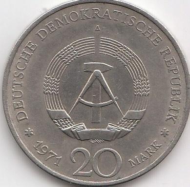 20 Mark Ddr Ernst Thälmann 1971 Coins Of Germany