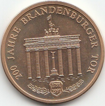 200 Jahre Brandenburger Tor Coins Of Germany