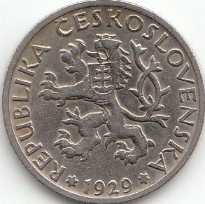 1 Koruna Tschechien 1922 1938 Coins Of Germany