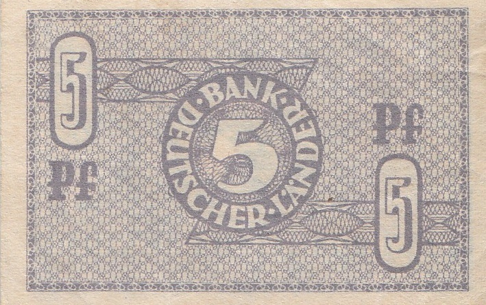 5 Pfennig Bank Deutscher Länder 1948 1951 250a Coins Of Germany