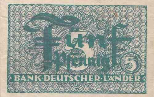5 Pfennig Bank Deutscher Länder 1948 1951 250a Coins Of Germany