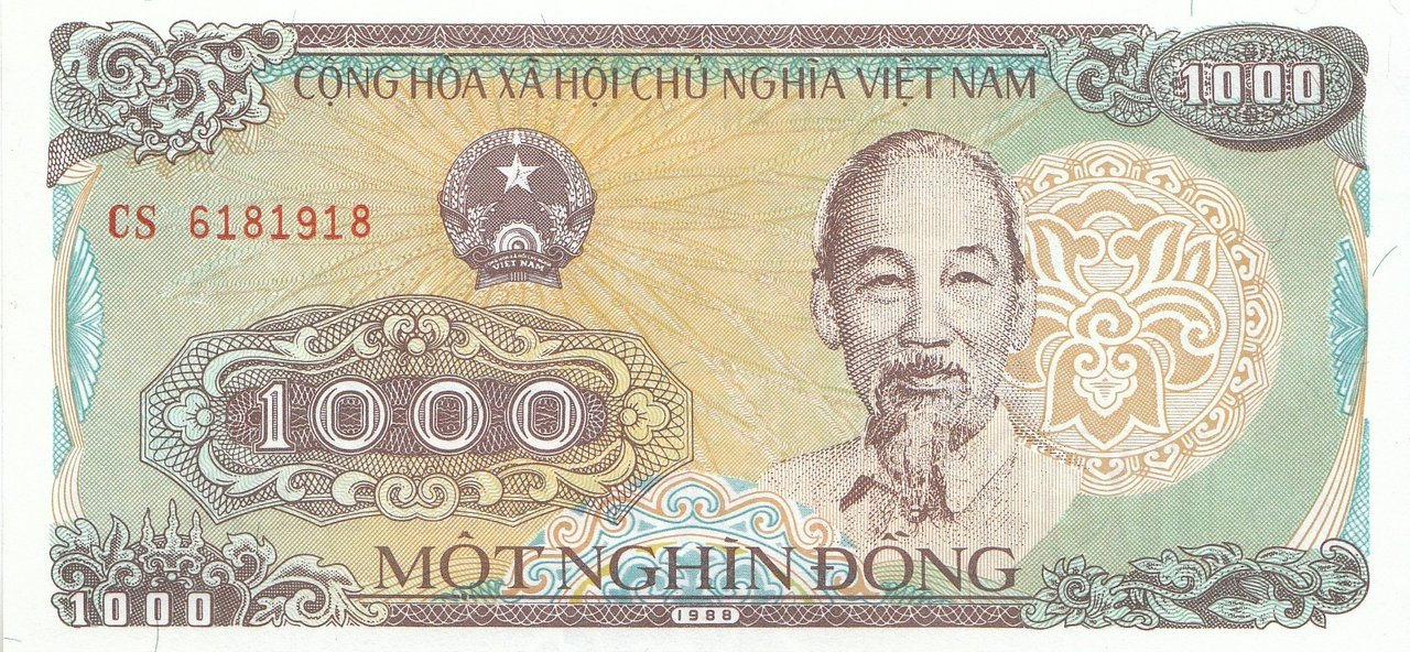 1000 Dong Vietnam 1988 106a Coins Of Germany