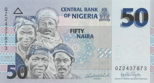 50 Naira Nigeria 2007 35b