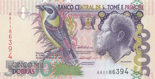 5000 Dobras Saint Thomas and Prince 1996 65a