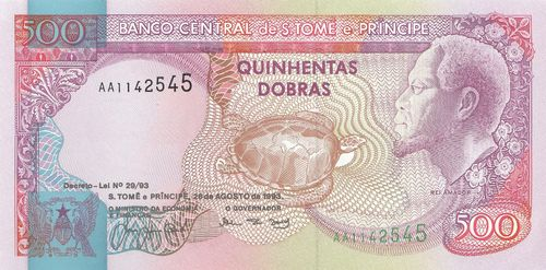 500 Dobras Saint Thomas and Prince 1993 63